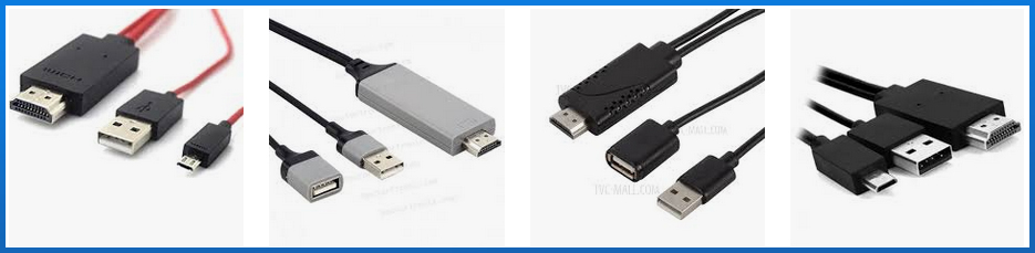 Cables HDMI a USB